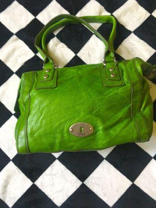 Fossil green bag
