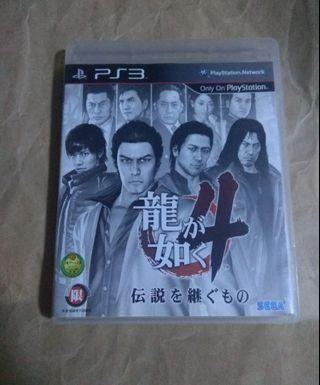 中古二手 PS3 遊戲 GAME 人中之龍4 日文字幕 動作遊戲