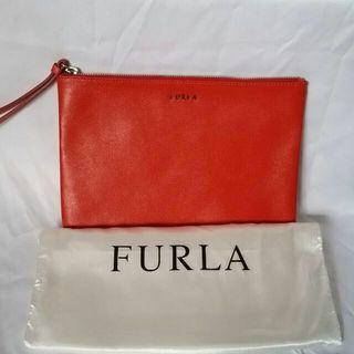 Brand new Furla leather clutch