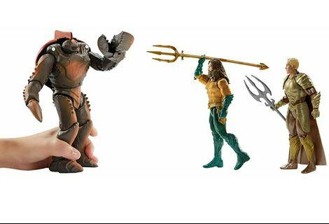 """Exclusive 6"""" Aquaman, Orm and 7.5"""" oversized Brine king Action Figure - 3-Pack,l"""