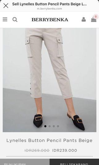 Button Pants Berrybenka Beige