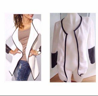 Size S: black and white cardigan