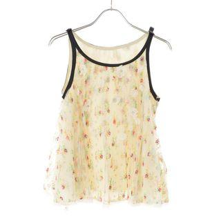 🚚 【JILL by JILL STUART】甜美綻放花園蕾絲薄紗削肩短版無袖背心上衣