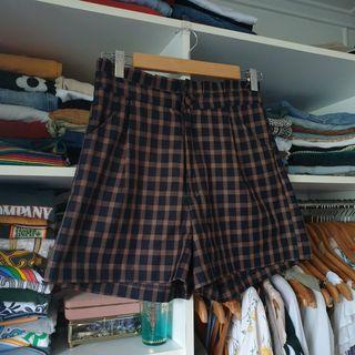 Princess Highway vintage retro style gingham high waisted picnic shorts