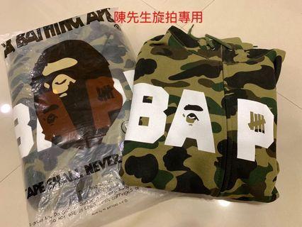 全新 絕版品 聯名 Bape x undefeated 綠迷彩帽夾 M跟L 絕版日本製 初代聯名
