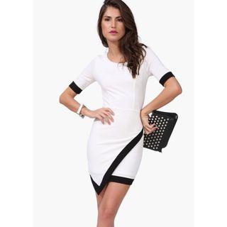 Black and White Assymetrical Dress
