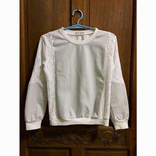 White Korean Style Sweater