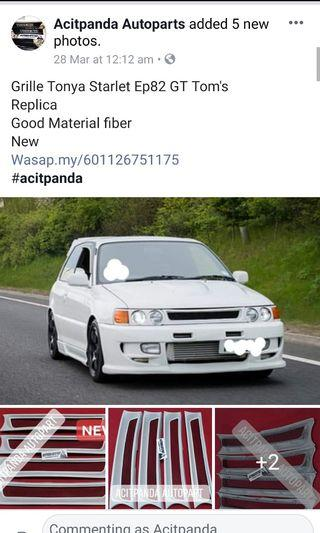 Grille Tom's Toyota Starlet Ep82 GT