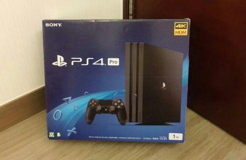 淨吉盒,黑色 PlayStation Sony PS4 Pro 4K HDR 吉盒