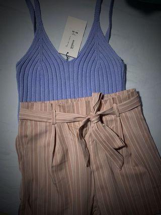 Stripes Shorts // Dusty Pink