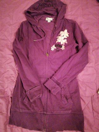 🚚 Ed hardy紫色長版外套