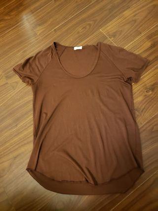 Wilfred t shirt maroon xs