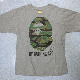 A Bathing ape  灰色 虎紋 tee