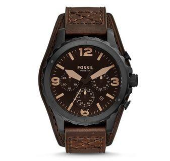 Fossil Men's Nate Chronograph dark brown Leather Watch
