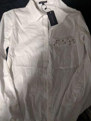 Whute button down shirt sz S