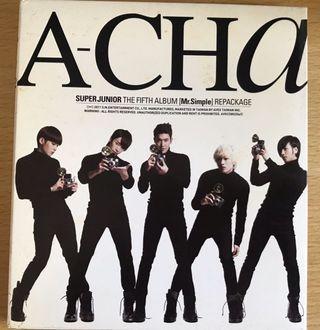 "Super Junior CD ""Super Junior – A-CHA"""