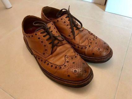GRENSON Archie Tan Calf Brogue Shoes