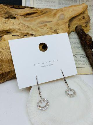 韓國垂吊型笑哈哈耳環(銀色)
