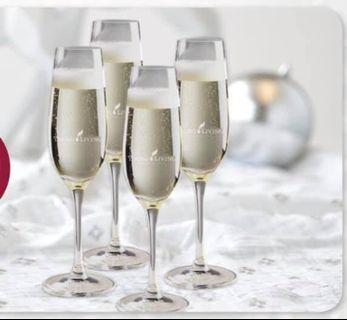 $10 for 4 brand new champagne glass