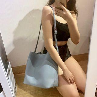 vincci grey-ish blue bag