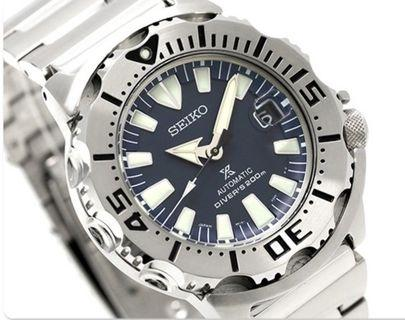 *Made In Japan* Seiko Prospex SZSC003 SBDC067 Navy Blue Coral Blue Monster Automatic Men's Diver Watch