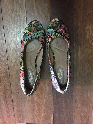 Payless Floral Wedge