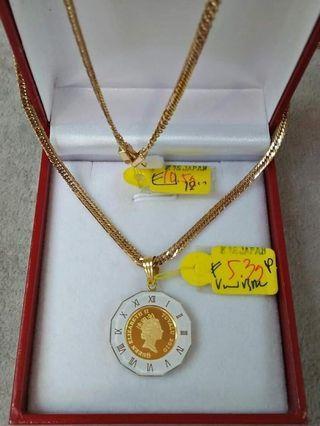 100% Genuine/Real 18K Japan Gold Necklace