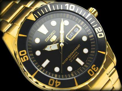 *Made In Japan* Seiko 5 Seamaster Sports Automatic 23 Jewels SNZF22 SNZF22J1 SNZF22J Men's Watch