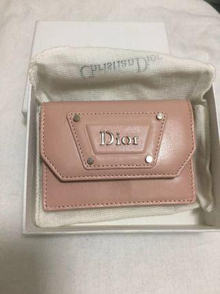 Christian Dior pink card holder
