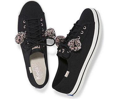 🚚 Keds Kickstart Black Pom Pom Sneakers #EndGameYourExcess