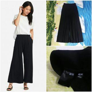 UNIQLO Flare Wide Pants (Black S)