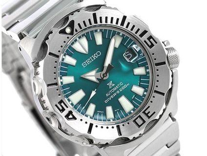 *Made In Japan* Seiko Prospex SZSC005 Emerald Green Monster Automatic Men's Diver Watch