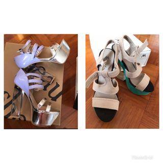 巴黎購入 37 高跟鞋 36-37 ok 有包裝 全新 $200@2對 high heels