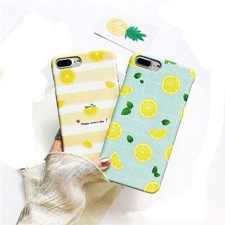 PREORDER Summer Lemon Grid Phone Case