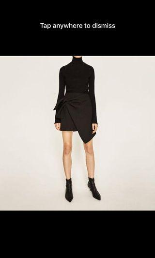 Zara Wrap Black Skirt