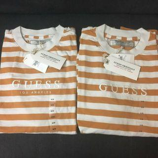 GUESS YELLOW STRIPED TEE