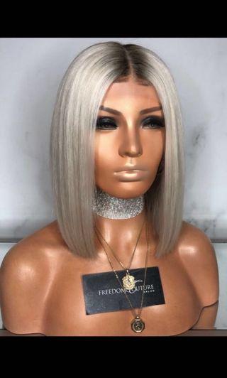 Freedom couture platinum bob