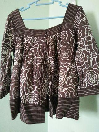 East India crop blouse