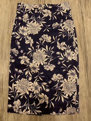 Zara Floral High Waisted Skirt