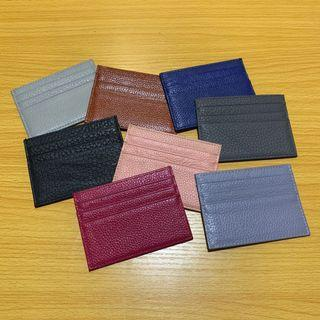 Simple leather card case