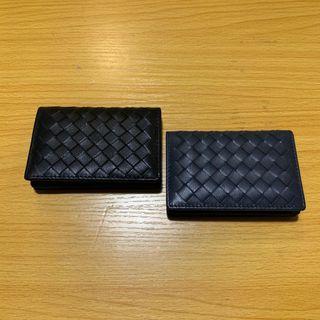 B cross leather card wallet