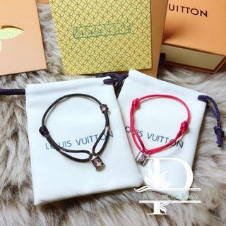 Louis Vuitton mini鎖頭小紅繩,小黑繩(vip gift)