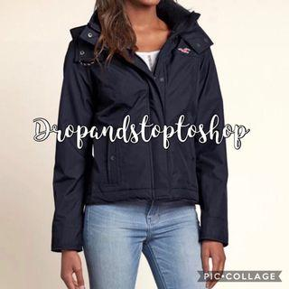 Hollister all weather jacket in navy