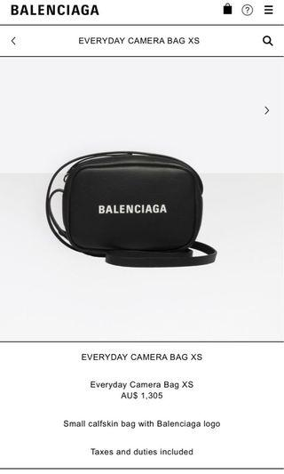 Authentic Balenciaga camera bag xs