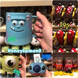 [HLD代購]香港迪士尼 各款杯杯🍺 Mickey 怪獸公司 史迪仔