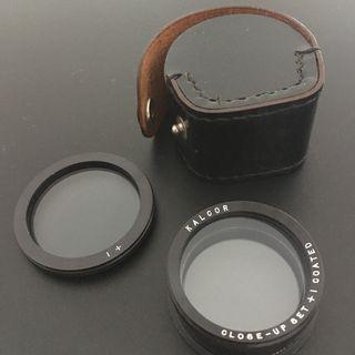 Kalcor Close Up filter set for Rolleiflex Bay III