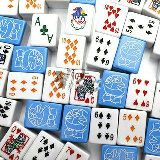 *FREE POST to West Malaysia only / Ready stock* Doraemon design mahjong set each (cube +-37*28*22mm) as shown design 3 players RM220, others RM250 / color.    Free delivery is applied for this item.