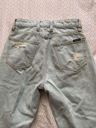 Bardot distressed mom jeans