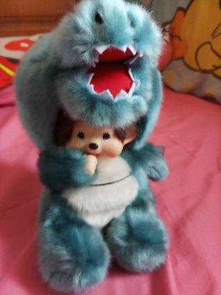 Monchichi cross over blue dragon