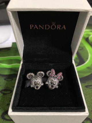 Pandora Charms Mickey & Minnie